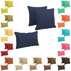 Blazing Needles Delaney Indoor/Outdoor Throw Pillow Set (Set of in Azul (As Is Item) (Azul) Back Support Pillow, Support Pillows, Living Room Pillows, Living Rooms, Pillow Arrangement, Perfect Pillow, Throw Pillow Sets, Pillow Covers
