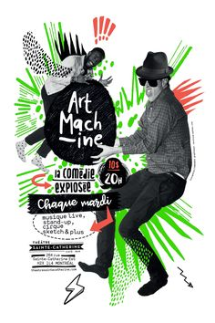 Art Machine 2017/2018 Montréal Movie Posters, Fictional Characters, Art, Live Music, Art Background, Film Poster, Kunst, Performing Arts, Film Posters