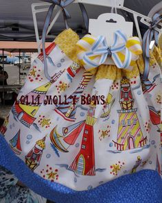 Lovely Lighthouse and Sailboats Pillowcase Dress by lollimollybows, $32.95