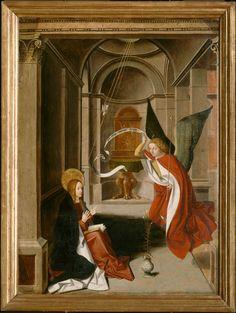 Josse Lieferinxe, Polyptyque de la Vierge : l'annonciation (Avinhon, 1493-1505, Musée du Petit Palais, Avinhon)