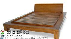 Tempat tidur minimalis kayu jati ini di buat oleh tukang kami asli jepara yang sudah sangat handal dibidangnya dan mempunyai kontruksi yang sangat kuat