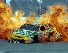 nascar on fire Nascar Crash, Nascar Racing, Drag Racing, Racing News, Auto Racing, Nascar Wrecks, Kyle Busch, Dale Earnhardt, Drag Cars