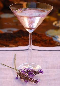 Lavendar Lemon Drop                                        2 oz. lemon vodka   1 oz. fresh lemon juice  2 lavender sprigs  1 Tbsp simple syrup
