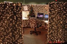 christmas decorating ideas office. 9 Cubicle Dwellers With Serious Christmas Spirit. Office CubicleCubicle IdeasDecorating Decorating Ideas S