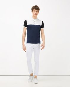Image 1 of COLOUR BLOCK POLO SHIRT from Zara