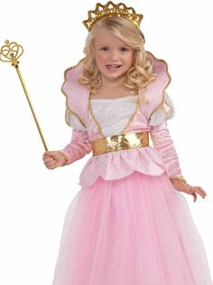 Girls Disney Pink DELUXE SPARKLE PRINCESS Queen Dress Costume * SMALL 4-6 * FAST #FORUM #CompleteCostume
