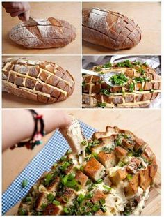 40 Creative Food Hacks That Will Change The Way You Cook Cheesy Pull Apart Bread, 15 Minute Dinners, Food Gallery, Cheese Bread, Easy Cheese, Bread Food, Food Humor, Creative Food, Diy Food