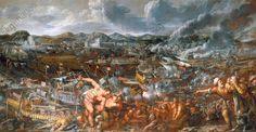 VICTOIRE DES VÉNITIENS SUR LA FLOTTE TURQUE AUX DARDANELLESGuerre turco-véntienne 1645–71. Bataille des Dardanelles 26 juin 1656.