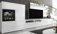 Olympo Lounge Unit TV Entertainment Centre with Built-In Biofuel ...