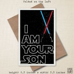 There Is No Escape  Star Wars Card  Funny Card  by StudioFusco