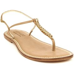 Bernardo Vintage Couture Link leather sandals ($227) ❤ liked on Polyvore