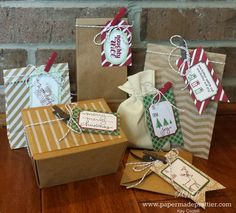 Simple Saturday: DIY Gift bags in a snap with this fab Kit!  Under the Tree Tag A Bag Accessory Kit! See it on the blog NOW!  http://www.papermadeprettier.blogspot.com/2014/09/simple-saturday-under-tree-tag-bag-kit.html