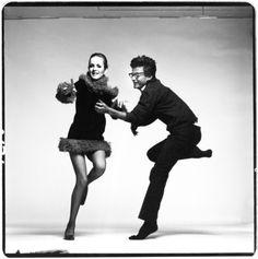Twiggy & Richard Avedon, 1967.