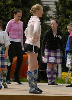 Highland dancers don't like pants