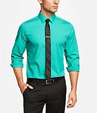 Express men MODERN FIT 1MX STRETCH COTTON SHIRT  Style: 0304986C  $59.90 $14.99 - $39.99 TAKE AN ADDITIONAL 20% OFF DISCOUNT TAKEN IN CART. Calypso green Semi-spread collar with removable stays French button placket Long sleeves with adjustable cuffs, shirttail hem Cotton/Spandex