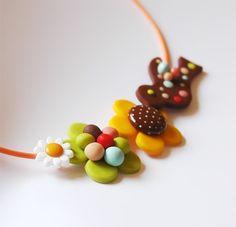 Gingerbird Cookies Necklace polymer clay | Flickr: Intercambio de fotos
