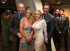 Rickie Fowler and Jimmy Walker photobombing Jim Furyk and Phil Mickelson