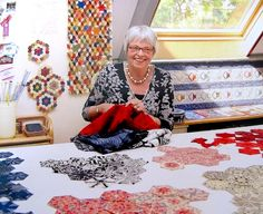 Willyne Hammerstein, author of Millefiori Quilts, the book that features the La Passacaglia Quilt