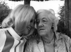 Con Margaret Rutherford, 1967
