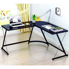 Shop a great selection of SHW L-Shape Corner Desk Computer Gaming Desk Table, Black. Find new offer and Similar products for SHW L-Shape Corner Desk Computer Gaming Desk Table, Black. Diy Office Desk, Home Office Desks, Home Office Furniture, Furniture Plans, Metal Furniture, Office Table, Diy Desk, Office Gifts, Office Ideas