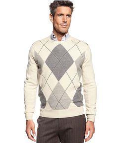 Geoffrey Beene Sweater, Argyle Sweater - Mens Sweaters - Macy's