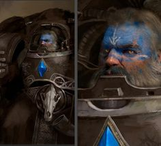 Character Concept, Concept Art, Imperial Knight, Warhammer 40k Art, Thunder And Lightning, Space Wolves, Angel Of Death, Mini Paintings, Space Marine