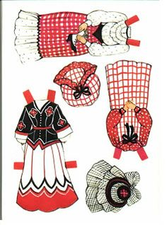 Carrie's Boutique Ginghams Paper Dolls /\ ...........•❤° Nims °❤•