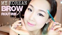 Easy Natural Korean Brows in 3 Minutes ♥ Shaping, Grooming, Drawing | 이쁜...