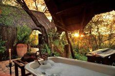 Bath at sunset