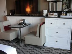 Dining Booth In Guest Room At Golden Nugget Casino Hotel In Lake Charles,  Louisiana
