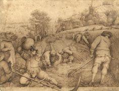 Pieter Bruegel d. Ä. «Der Sommer», 1568, Feder in Braun. (Bild: Albertina, Wien)