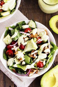 Cajun Chicken Salad with Avocado Ranch Dressing