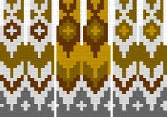 Three Versions of Riddari - Her Crochet Fair Isle Knitting Patterns, Knitting Charts, Knitting Designs, Knitting Stitches, Knitting Tutorials, Vintage Knitting, Lace Knitting, Fair Isle Chart, Diagram Chart