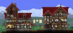 Terraria House Design, Terraria House Ideas, Terraria Tips, Minecraft Medieval, Minecraft Houses, Minecraft Ideas, Garden Terrarium, Roof Design, Architecture Plan