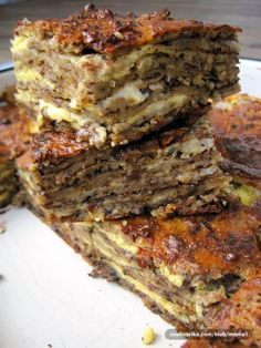 It looks a little unsuspecting once it has baked - like a modest chocolate chip cookie bar. But once you cut inside and see the thick, gooey layer of fudgy Bosnian Recipes, Croatian Recipes, Bosnian Food, Chocolate Flavors, Chocolate Chip Cookies, Burek Recipe, Kolaci I Torte, Peanut Butter Chips, Cooking Recipes