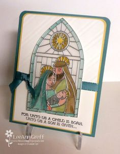 We LOVE the stained glass look on this card done with Stampin' Write Markers.