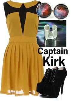Captain Kirk. I would SO wear this outfit!!