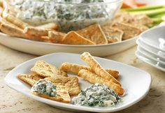 The distinctive ranch flavor is what makes this spinach dip so much better than the rest. All you needarefour ingredients and a box of crackers and you've gotone terrific appetizer!