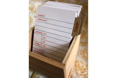 Letterpress Address Card Box Set