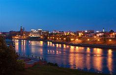 Columbus' RiverWalk at night. To see more pictures of beautiful Columbus  check out www.visitcolumbusga.com