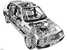 Pictures of Citroën Visa 1982–88 Citroen Car, Car Tuning, Technical Drawing, Cutaway, Concept Cars, Classic Cars, Technical Illustrations, Vehicle, Pictures