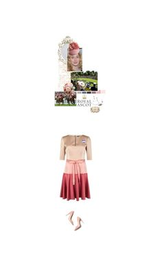 """""""(V) Attends Day One of Royal Ascot"""" by immortal-longings ❤ liked on Polyvore featuring Juliette Botterill Millinery, Paule Ka, M. Gemi, Tiffany & Co., Alexander McQueen and Dolce&Gabbana"""