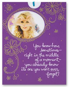 Taylor Swift Happy Birthday Card