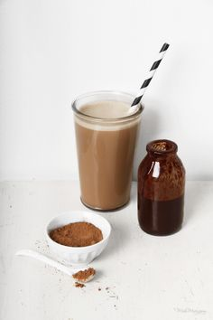 healthy malted hot chocOlate milkshake