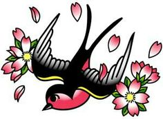 Cherry blossom swallow