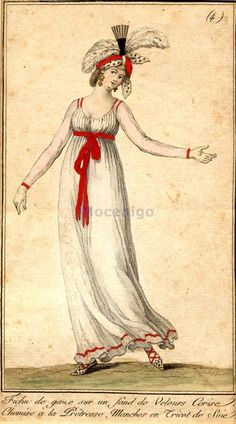 Fashion plate, date missing (late 1790's?) France, source missing