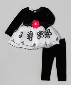 Take a look at this Black & Pink Flower Swing Dress - Infant & Toddler by cachcach on #zulily today!