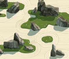 Awesome Rock Garden Ideas for Backyard 60 Small Japanese Garden, Japanese Garden Design, Chinese Garden, Japanese Art, Zen Garden Design, Japan Landscape, Japan Garden, Landscape Architecture Design, Bonsai Garden