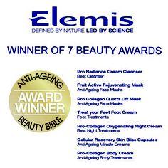 Winner of 7 Beauty Bible Beauty Awards 2012 Elemis Spa, Beauty Bible, Foot Cream, Beauty Awards, Award Winner, Cornwall, Collagen, Cleanser