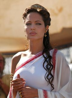 Image detail for -Angelina Jolie had a Greek looking long curly Hairstyle